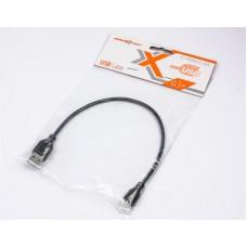 Кабель USB-MicroUSB B Maxxter 0.3m Black