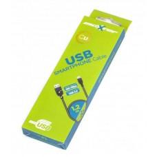 Кабель USB-MicroUSB BM Maxxter 1.2m Black