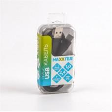 Кабель USB-Type-C Maxxter премиум 1m Black (UB-C-USB-01BK)
