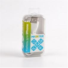 Кабель USB-Lightning Maxxter премиум 1m White (UB-L-USB-01W)