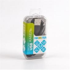 Кабель USB-MicroUSB Maxxter премиум 1m Black (UB-M-USB-01BK)