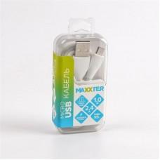 Кабель USB-MicroUSB Maxxter премиум 1m White (UB-M-USB-01W)