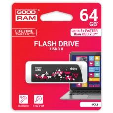 Флешка USB 3.0 64GB GoodRam UCL3 (Cl!ck) Black (UCL3-0640K0R11)