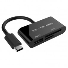 Кардридер 1USB 2.0 Type-C Gembird UHB-CR3-02 Black