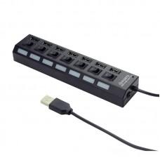 USB HUB Cablexpert USB-USB 7USB 2.0 Black (UHB-U2P7-03)