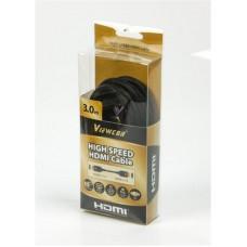 Кабель HDMI-HDMI v1.4 ферриты Viewcon 3m Black