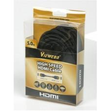Кабель HDMI-HDMI v1.4 ферриты Viewcon 5m Black