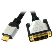 Кабель HDMI-DVI (18+1) Viewcon M/M 3m блистер Black