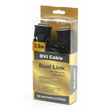 Кабель DVI-DVI Viewcon 3m Black
