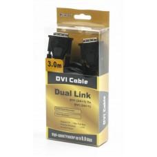 Кабель DVI-DVI Viewcon 3m Black
