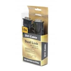Кабель DVI-DVI феррит Viewcon 3m Black