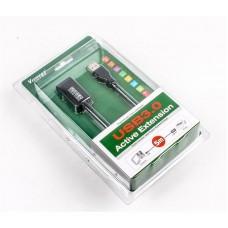 Удлинитель активный USB-USB 3.0 AM/AF Viewcon 5m Black