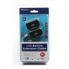 Удлинитель активный USB-RJ45 1.1 VE399 Ethernet Viewcon до 60m Black