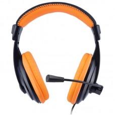 Наушники гарнитура накладные Gemix W-300 Black/Orange