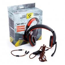 Наушники гарнитура накладные Gemix W-330 Pro Gaming Black/Orange