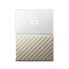 """Внешний жесткий диск HDD 2.5"""" USB 3.0 2TB WD My Passport Ultra White/Gold (WDBFKT0020BGD-WESN)"""