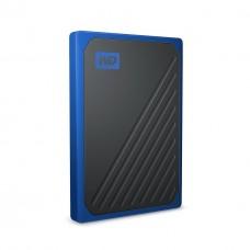 Внешний жесткий диск SSD USB 3.0 1Tb WD My Passport Go Blue (WDBMCG0010BBT-WESN)