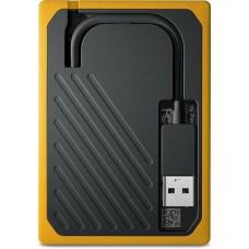 Внешний жесткий диск SSD USB 3.0 1Tb WD My Passport Go Amber (WDBMCG0010BYT-WESN)
