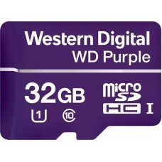 Карта памяти MicroSDHC 32GB UHS-I Class 10 WD Purple (WDD032G1P0A)