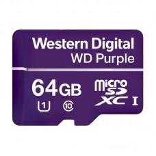 Карта памяти MicroSDXC 64GB UHS-I Class 10 WD Purple (WDD064G1P0A)