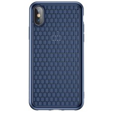 Чехол накладка TPU Baseus BV Weaving для iPhone XS Max Blue (WIAPIPH65-BV03)