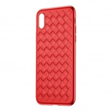 Чехол накладка TPU Baseus BV Weaving для iPhone X Red (WIAPIPHX-BV09)