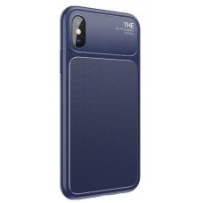 Чехол накладка TPU Baseus Knight для iPhone X XS Blue (WIAPIPHX-JU03)