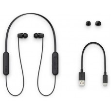 Наушники гарнитура вакуумные Bluetooth Sony WI-C200B Black (WIC200B.CE7)