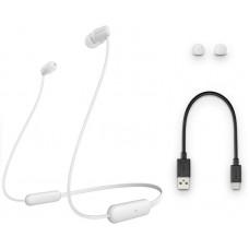 Наушники гарнитура вакуумные Bluetooth Sony WI-C200 White (WIC200W.CE7)