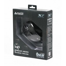 Мышь A4Tech X87 Oscar Neon Black USB