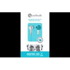 Наушники вакуумные Yurbuds Inspire 100 Women White/Aqua (YBWNINSP01ANW)