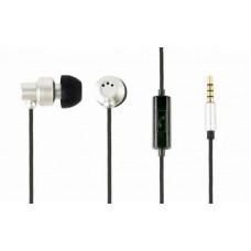 Наушники гарнитура вакуумные GMB Audio MHS-EP-CDG-S Silver