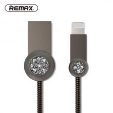 Кабель USB Lightning Remax OR Moon RC-085i iPhone 7 1m серый