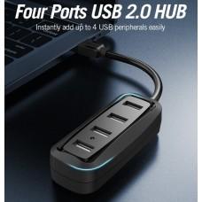 USB HUB Vention USB-USB 4USB 2.0 Black (VAS-J43-B015)