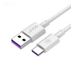 Кабель USB-Type-C Golf High Speed GC-42t White