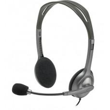 Наушники гарнитура накладные Logitech H111 Stereo Grey