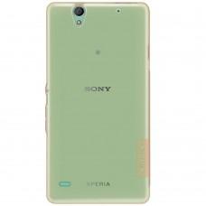 Чехол накладка TPU Nillkin Nature для Sony Xperia C4 D5333 Brown