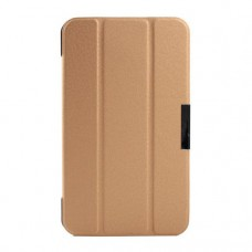 Чехол книжка кожаный Crazy Horse Tri-fold для Asus Fonepad 7 FE170C золотой