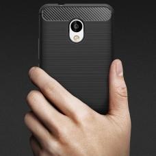 Чехол накладка TPU SK Fiber Carbon для Meizu M5s Black