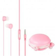 Наушники гарнитура вакуумные Keeka MC124 Macaroon Pink