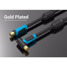 Кабель Coaxial Vention антенный F/F угол 90 2m gold-plated Black (VAV-A02-B200)