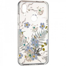 Чехол накладка TPU Diamond Younicou New для Samsung A805 A80 Blue Flowers
