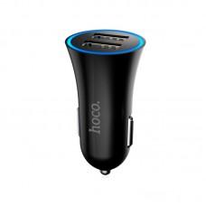 Адаптер автомобильный Hoco 2 USB 2.4A UC204 черный