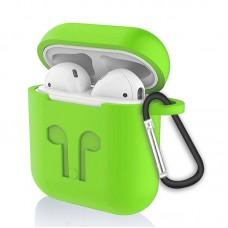 Чехол силиконовый SK для наушников AirPods Green 3