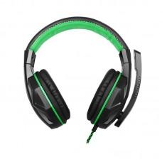 Наушники гарнитура накладные Gemix X-370 Black/Green