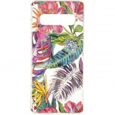 Чехол накладка TPU Gelius Flowers Shine для Samsung A405 A40 Tropic