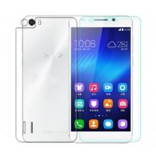 Защитное стекло Optima 2.5D на заднюю крышку для Huawei Honor 6 Transparent