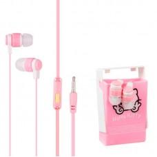 Наушники гарнитура вакуумные Keeka MC98 Funny Animals Pink