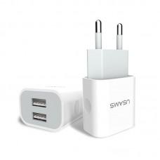 Зарядное устройство сетевое Usams 2USB 2.4A + cable MicroUSB J-TU Set белый