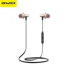 Наушники гарнитура вакуумные Bluetooth Awei A860 Sport Gold